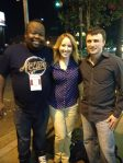 Andy with the hilarious Dave Gregory and Ashley Huyge at Flapper's Comedy Club in Burbank, CA!
