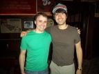 Feeling inspired after talking with the hilarious comedy icon Demetri Martin! I was in mid-laugh during the picture... :D