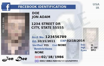 What if facebook started making ID cards?