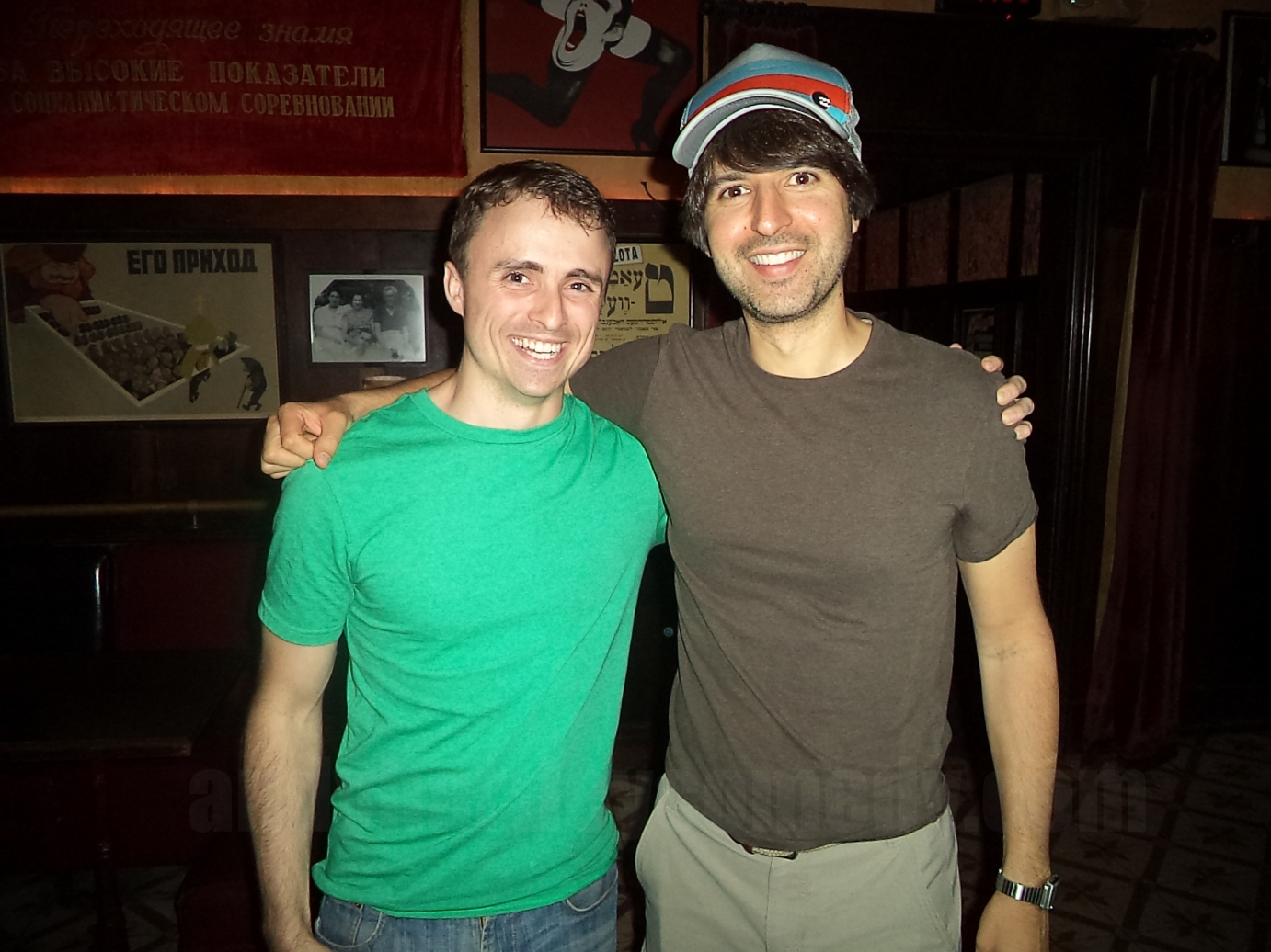 Andy Hartley with comedy icon Demetri Martin