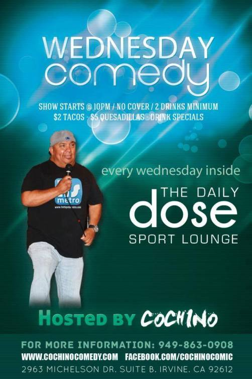 This Wednesday @ 10pm at The Daily Dose in Irvine, CA.