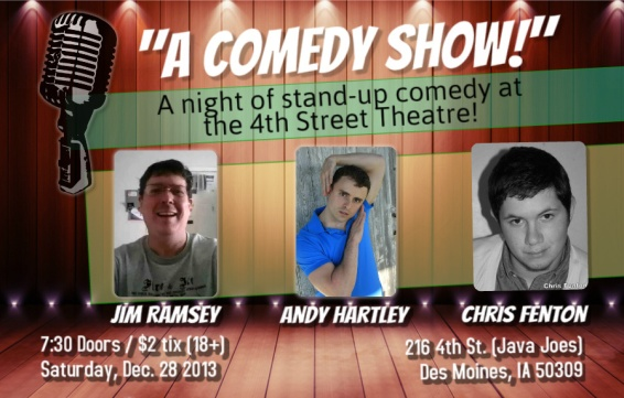 Andy joins Chris Fenton & Jim Ramsey at 4th Street Theatre!